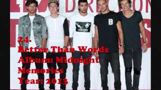 Top 45 One Direction songs