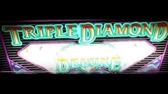 TRIPLE DIAMOND DELUXE $1 Slot Machine LIVE PLAY