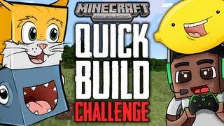 Minecraft (Xbox 360) - 1 HOUR QUICK BUILD CHALLENGE! - (w/BigbSt4tz, Stampy, BallisitcSquid)
