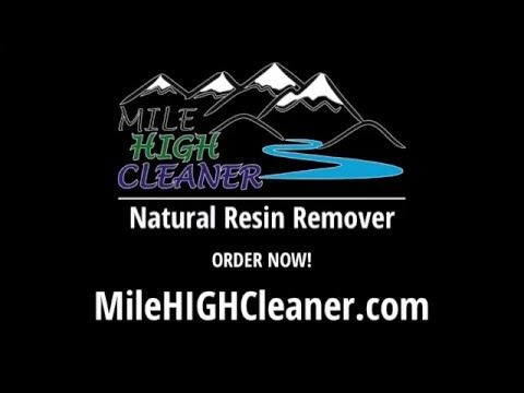 How to clean resin from a bowl with Mile HIGH Cleaner