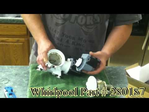 Whirlpool washing machine drain pump replacement and diagnostic