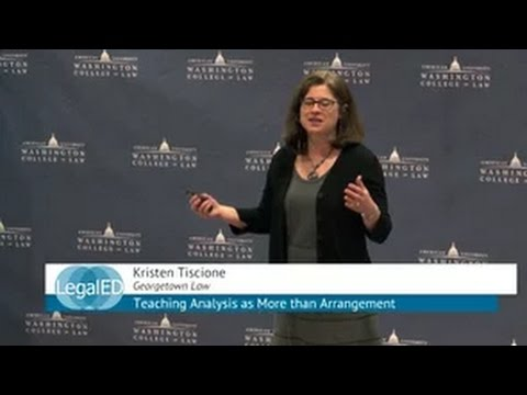 Teaching Analysis as More than Arrangement | Kristen Tiscione | Georgetown Law | ILT 2015