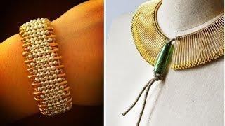 Посмотрите какие украшения можно сделать своими руками из обычной булавки, бисера и бусин