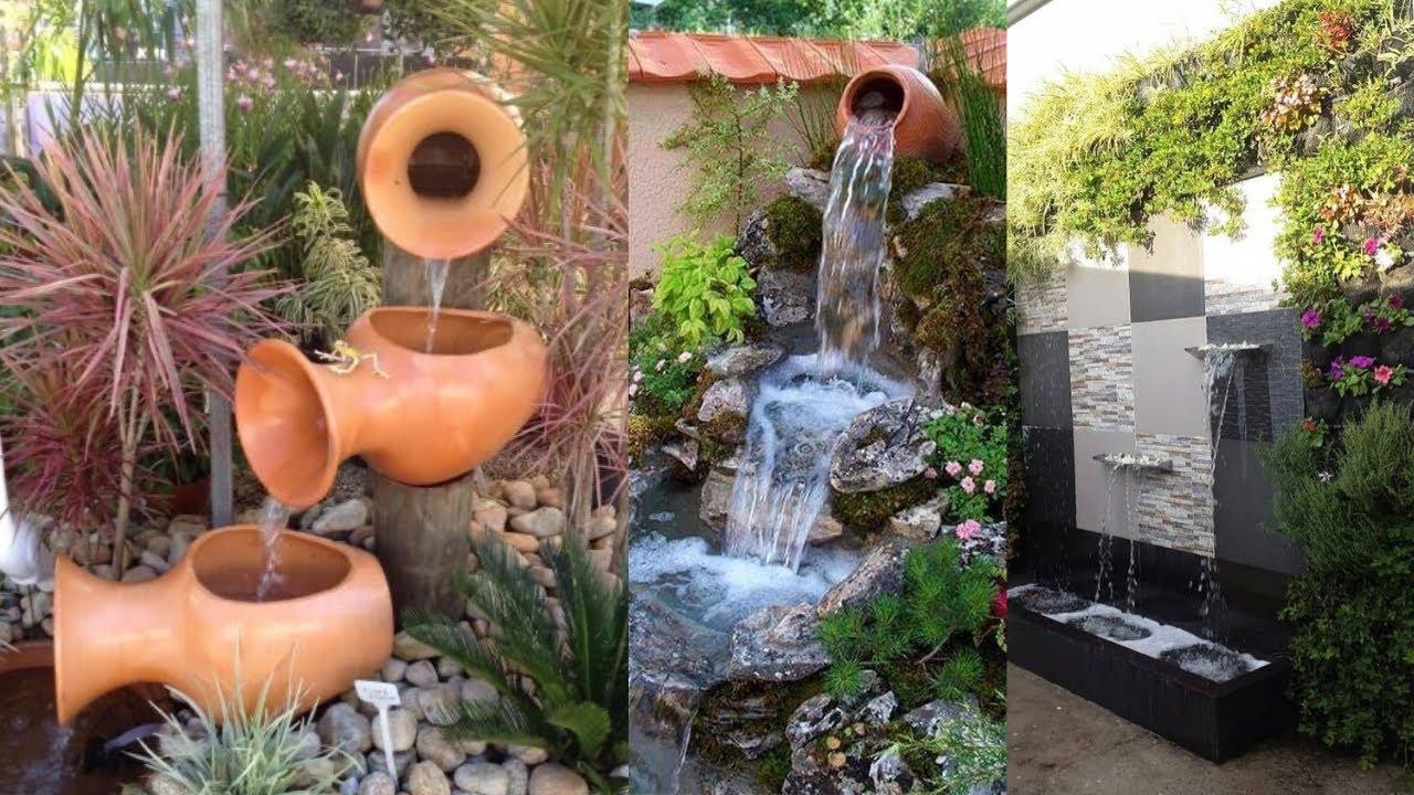 beautiful outdoor garden fountain design ideas
