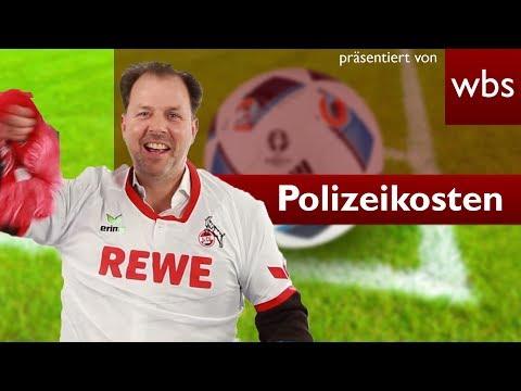 Müssen sich Fußballvereine an Polizeikosten beteiligen? | Rechtsanwalt Christian Solmecke