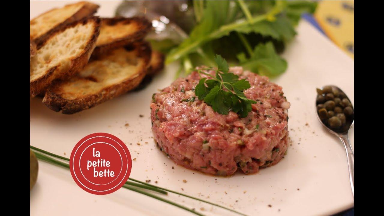 Recette de tartare de boeuf maison youtube - Tartare de boeuf cyril lignac ...