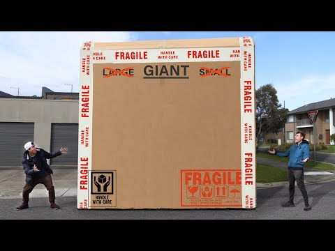 UNBOXING A GIANT MYSTERY BOX