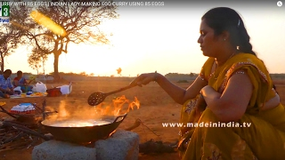 EGG CURRY WITH 85 EGGS | INDIAN LADY MAKING EGG CURRY USING 85 EGGS