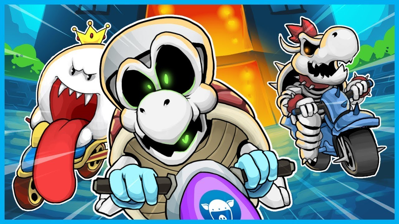 SPOOKY CHARACTERS U0026 EVEN SPOOKIER DRIVING!   MARIO KART 8 DELUXE FUNNY  MOMENTS HALLOWEEN EDITION!