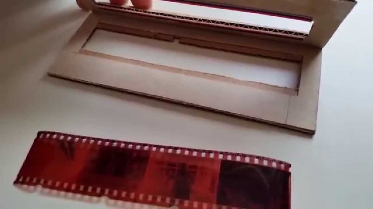 negative film scanner using dslr cardboard prototype of negative