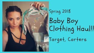 Baby Boy Clothing Haul Spring 2018 | Target, Carters