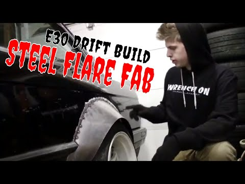 Custom Steel E30 Widebody Kit | Ep 5 | Making Rear Flare & Fixing Front Fitment