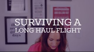 Tips for surviving a long haul flight | CharliMarieTV