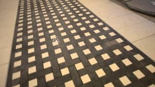 укладка плитки со сложным рисунком, использование шаблонов
