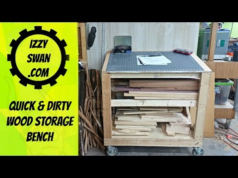 (how to make) a Quick Wood Storage Bench