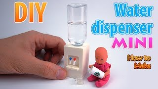 DIY Miniature Water dispenser| DollHouse | No Polymer Clay!