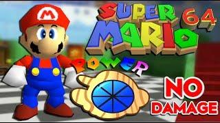 Super Mario 64 NO DAMAGE CHALLENGE Speedrun (16-Stars)!!