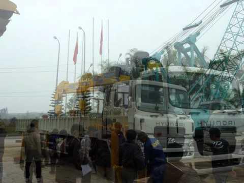 Xe HUYNDAI gắn cẩu SOOSAN 8 tấn và 10 tấn  giá tốt