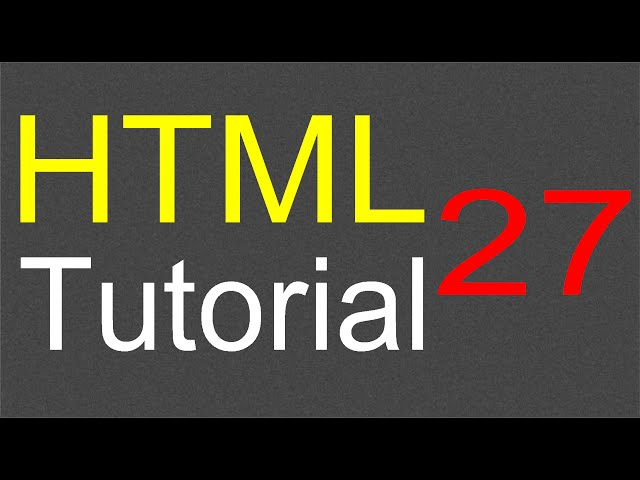 HTML Tutorial for Beginners - 27 - Audio element attributes
