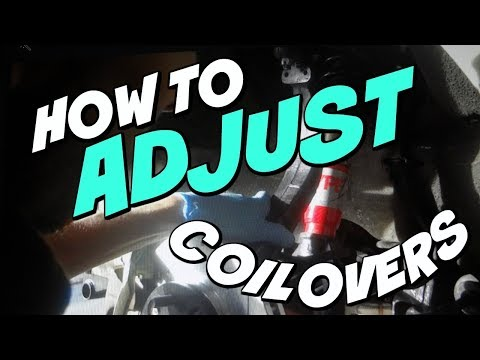 HOW TO ADJUST COILOVERS WITHOUT TAKING THEM OFF THE CAR