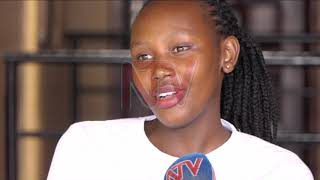 Emilly Kansiime turns out for Nkumba women's volleyball club