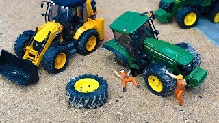 Best of Bruder Trucks and Tractors Broken Wheel Accidents for Kids!