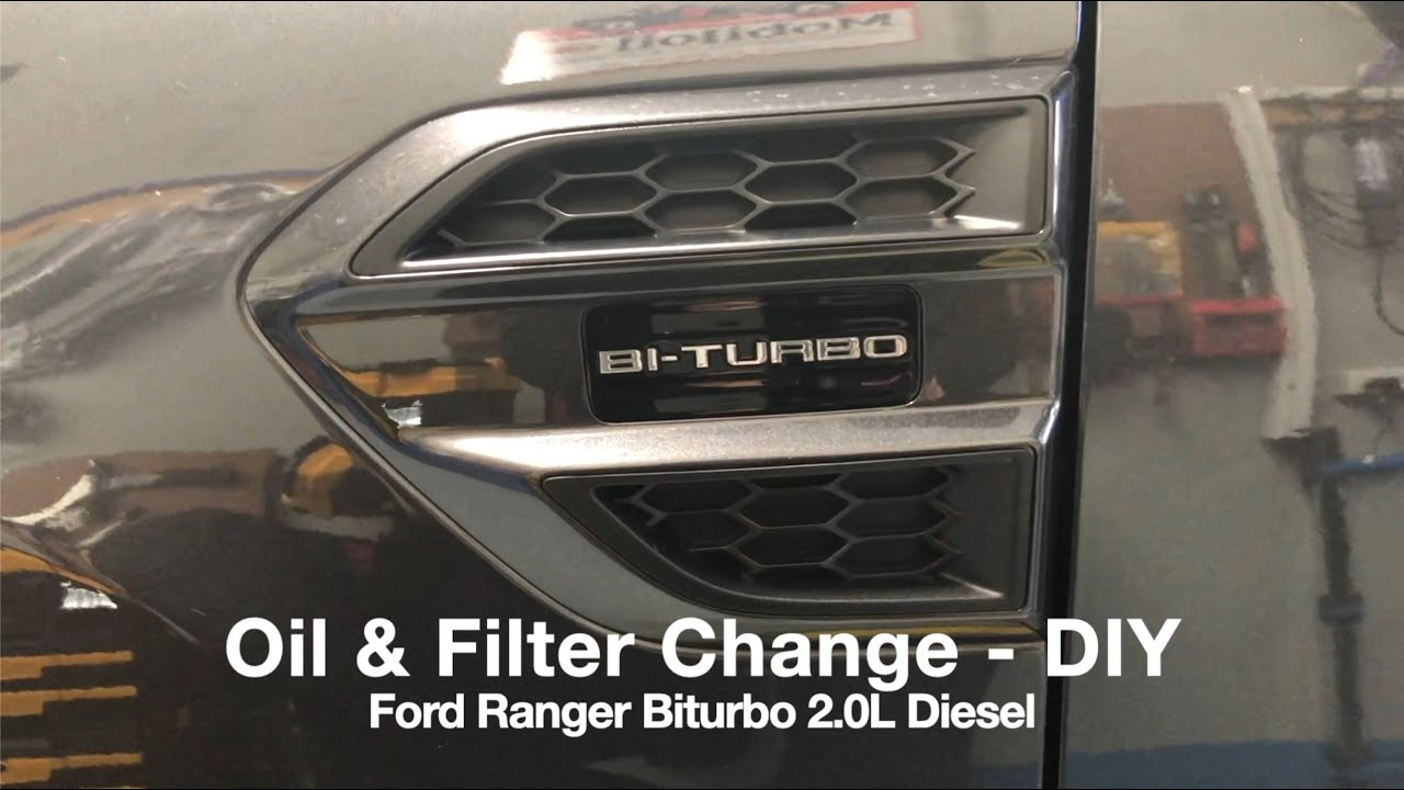 Ford Ranger Biturbo 2l Diesel Diy Oil Service Filter Change