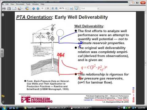 Petroleum Engineering: PTA orientation, Tight gas production case