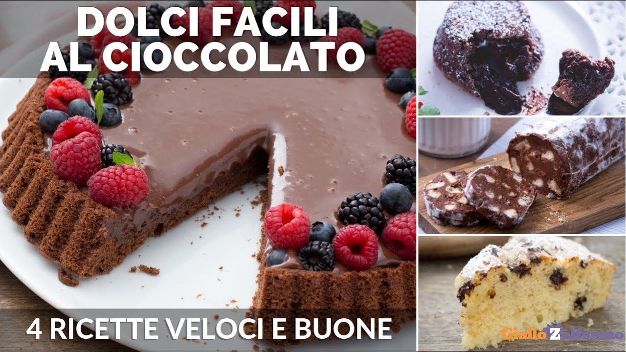 Dolci al cioccolato facili e veloci 4 ricette da provare for Dolci ricette facili