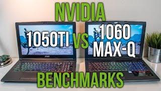 Nvidia 1050 Ti vs 1060 Max-Q - Laptop Graphics Comparison Benchmarks
