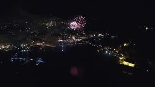 Corfu easter fire works 2016 - Πάσχα στην Κέρκυρα - Ανάσταση by drone