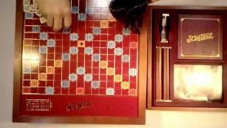 Premier Edition Wood Scrabble Board (like new) SOLD on eBay
