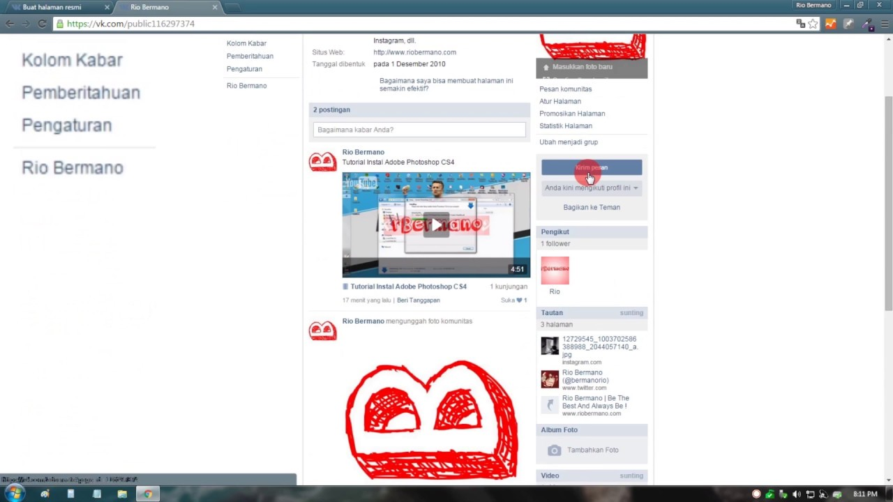 How to create a Vkontakte page 27