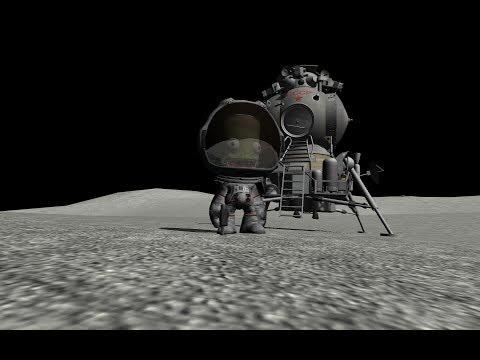 KSP: Soviet Lunar Expedition - Landing!