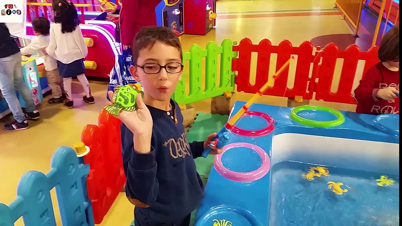 Fishing game in indoor playground for kids youtube for Fishing games for kids free