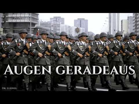 Augen geradeaus ✠ [German soldier song][+ english translation]