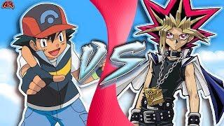 ASH vs YUGI! (Pokémon vs Yu-Gi-Oh!) | CARTOON FIGHT CLUB