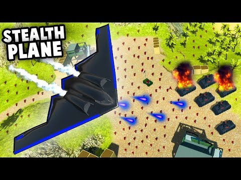 STEALTH PLANE Wipes Out NEW Tanks!  Top Secret Tech (Ravenfield Gameplay)