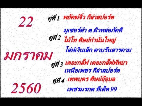 วิจารณ์มวยไทย 7 สี อาทิตย์ที่ 22 มกราคม 2560