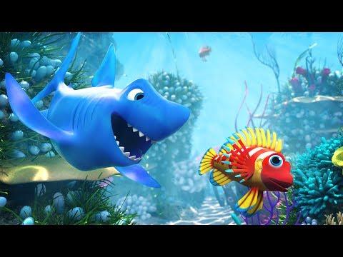 🐠 NEW 3D Ba Shark Doo Doo Doo Doo Song 2017 🐠  🐟   3D Ba Shark Song