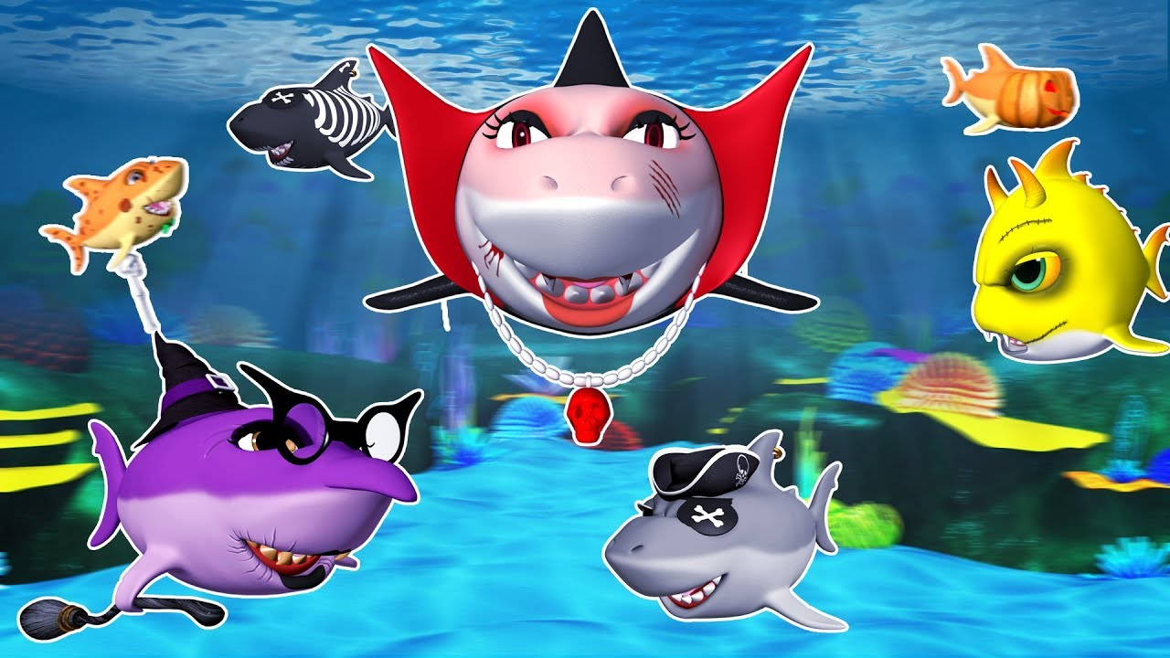 Halloween Shark | Baby Shark Halloween | Kids Songs ...