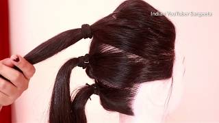 Very easy hairstyle for wedding | Easy Hairstyles for long hair | updo hairstyle | simple hairstyle