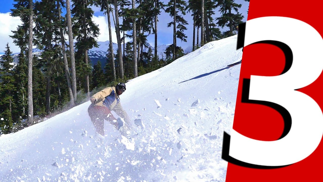 3 Snowboard Edge Tricks Circle Carve Spray Revert Carve Youtube