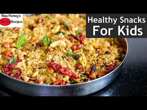 Poha Chivida Recipe - How To Make Poha Chivida - Healthy & Easy Snacks | Skinny Recipes