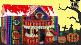 Build And Decorated Scary Halloween House From Magnetic Balls (Satisfying) | Magnet World Series