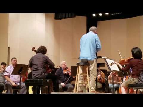 Zuill Baily and the Greensboro Symphony rehearsing the Elgar Cello Concerto