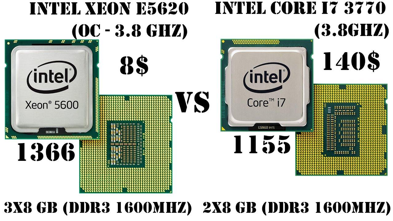 Процессор за 8$ против i7, или Xeon E5620(1366) vs Core i7 3770(1155)