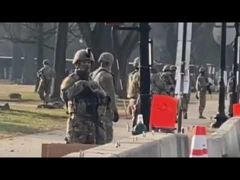 Armed troops and barbed wire fences after warnings of threats against Washington DC Capitol building