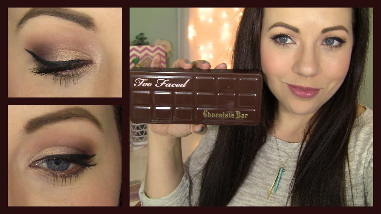 Too faced chocolate bar palette review tutorial youtube baditri Images