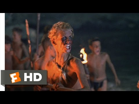 "Lord Of The Flies (9/11) Movie CLIP - Conquering The ""Monster"" (1990) HD"